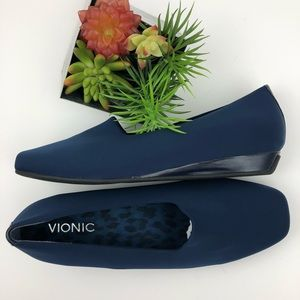 Vionic Navy Powell Demi Wedge | 8.5